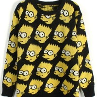 Cartoon Graphic Sweater - OASAP.com