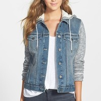 Women's Two by Vince Camuto Hooded Denim Jacket