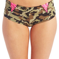 Silky Lace-Up Boyshorts | Wet Seal