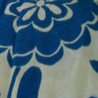 Blue and White Hawaiian Print Fat Quarter by fugeecat on Zibbet
