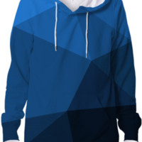 Modern Geometry Hoodie Abstract Polygonal Design created by all-over-print-t-shirts | Print All Over Me