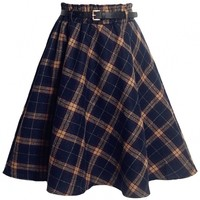 School Girl Tartan Wool Skirt - OASAP.com
