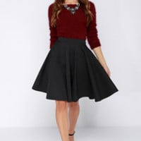 Noir Sighted Charcoal Grey Midi Skirt
