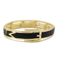 GOLD &amp; BLACK BRACELET
