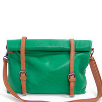 NEW MESSENGER BAG - green