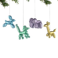 """Department 56: COLLECTING - """"Balloon Animal Resin Ornament, 4 Asst."""" - Retirements"""