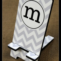 Cell Phone Stand Monogrammed Gift Personalized Mobile Co-Worker Boss Gift Desk Accessories Charger Stand