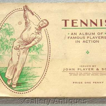 Tennis Full Set of 50 Cigarette Cards in Original Album by John Player & Sons Issued in 1936 (ref: 3091)