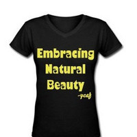 Embracing Natural Beauty V-Neck T-Shirt -Womens