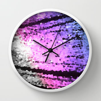 Cool Tone Lovelies Wall Clock by 2sweet4words Designs | Society6