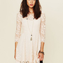 Free People Floral Mesh Lace Dress