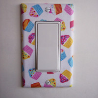 Cupcakes Single Rocker / GFI Switchplate Switch Plate
