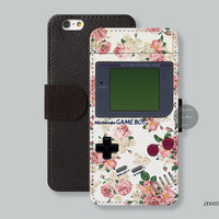Rose floral nintendo Leather Wallet cover iPhone 6 case iPhone 6 plus case, iPhone 5s case iPhone 5c case Galaxy s3 s4 s5 Note3 - C00078