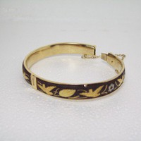 Damascene Vintage Hinged Bangle