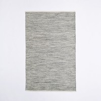 Melange Flatweave Cotton Rug - Feather Gray