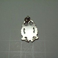 Vintage WHH 1913 Sterling and Gold Shield Pendant
