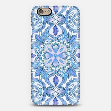 Cornflower Blue, Lilac & White Floral Pattern iPhone 6 case by Micklyn Le Feuvre | Casetify