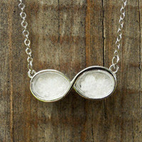Rock-Salt Infinity Necklace [3147] - $12.00 : Vintage Inspired Clothing &amp; Affordable Summer Dresses, deloom | Modern. Vintage. Crafted.