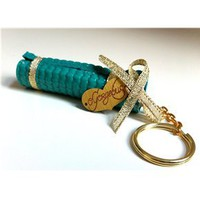 Mini yoga mat keychain