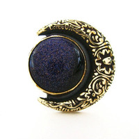 the Floral Moon Ring