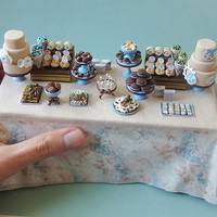 Bridal Snob  Amazing miniature wedding dessert table