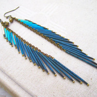 Agua - Porcupine Quill Tassel Earrings