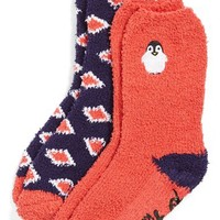 Women's kensie 'Penguin' Crew Slipper Socks (2-Pack)