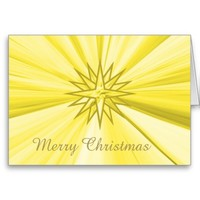 Merry Christmas Gold Star Note Card by Janz