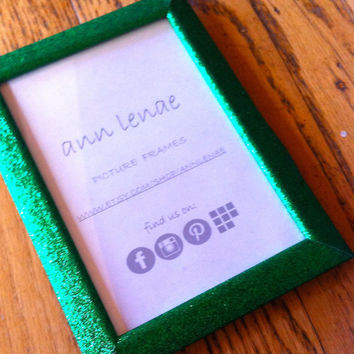 Sparkling Green Glitter Picture Frame | Green Glitter Duct Tape Covered Photo Frame