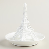 White Eiffel Tower Ring Holder - World Market