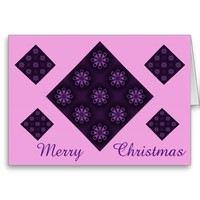 Merry Christmas Snowflakes Note Card by Janz
