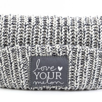 Navy Speckled Reversible Beanie | Love Your Melon