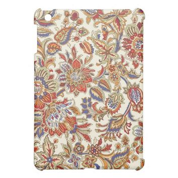 Vintage Abstract Floral Pattern iPad Mini Case