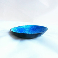 Peacock Blue Enamel Bowl