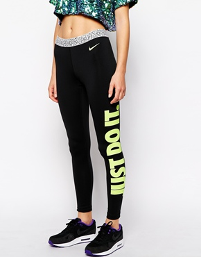 nike just do it leggings from asos poppin 39 tags. Black Bedroom Furniture Sets. Home Design Ideas