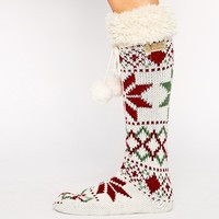 Bedroom Athletics Ava Fairisle Cream Slipper Socks