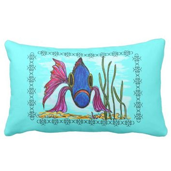 Pink Finned Fish Pillow