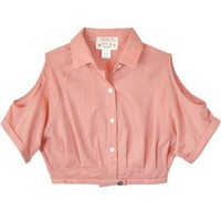 Study Cropped Amelia Pink Blouse
