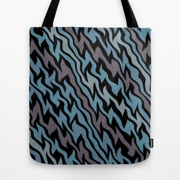 Ice Blue Tote Bag by Alice Gosling