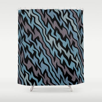 Ice Blue Shower Curtain by Alice Gosling