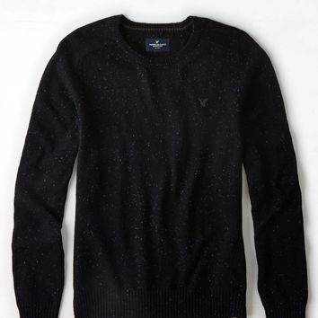 AEO Crew Sweater, Bold Black | American Eagle Outfitters