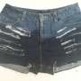 Ombred Distressed Denim shorts (Size 6)