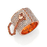 Eddie Borgo - Pavé Crystal Safety Chain Ring - Saks Fifth Avenue Mobile
