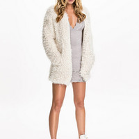 Fury Zipper Cardigan - Rebecca Stella For Nelly - White - Jumpers & Cardigans - Clothing - Women - Nelly.com