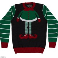 Unisex Ugly Christmas Sweater Elf Body SYP4-008002B