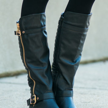 The Justina Boot, Black