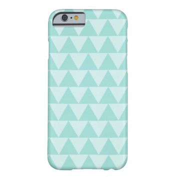Mint Green Tribal Triangle Pattern iPhone 6 Case