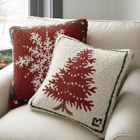 Spruce Pillow with Down-Alternative Insert.