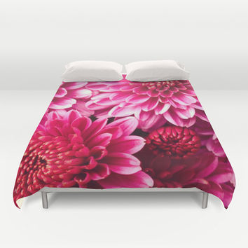 Pink Zinnia Duvet Cover by Legends of Darkness Photography