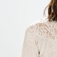 Lace front cardigan